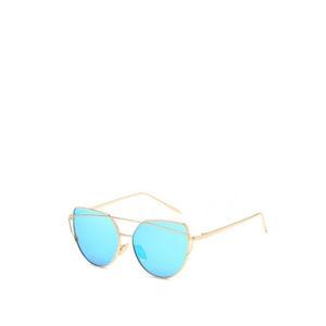 Tyrkysově-zlaté sluneční brýle Glam Rock