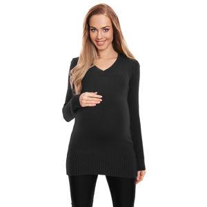 Černý těhotenský pulovr 70024