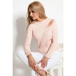 Světle růžový pulovr F920