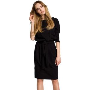 Černé šaty MOE 369
