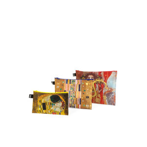 Trojdílná sada kosmetických tašek Gustav Klimt Zip Pockets