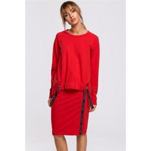 Červená sukně M494