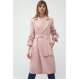 Světle růžový přechodný kabát PL13