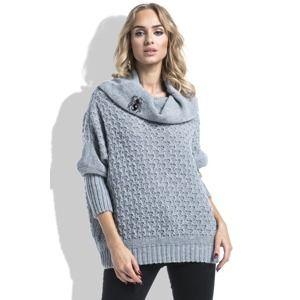 Šedý pulovr I227