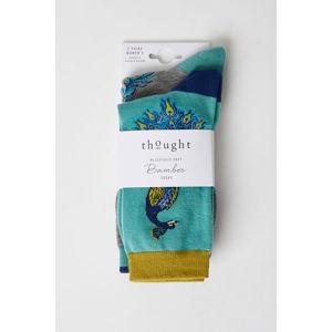 Šedo-tyrkysové ponožky Pavone Sock - dvojbalení