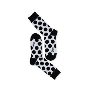 Černo-bílé ponožky Dot Socks