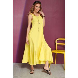 Žluté šaty M545