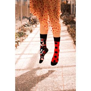 Černo-červené ponožky Ladybug