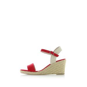Červené platformové sandály 1-28300