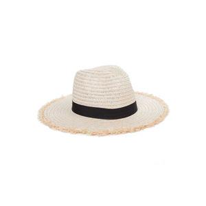 Světle béžový slaměný klobouk Nataly