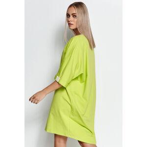 Limetkové mikinové šaty M626