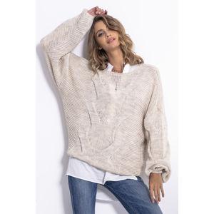 Béžový pulovr F812