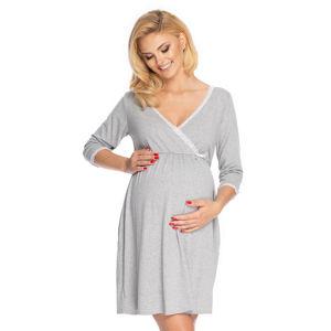 Světle šedá těhotenská noční košile 0178