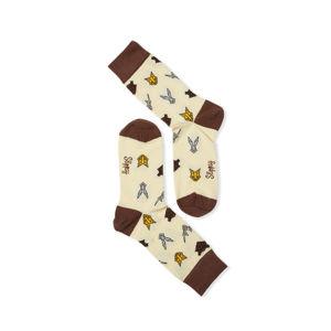 Žluté vzorované ponožky Animal Socks