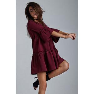 Bordové šaty Greta