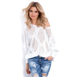 Bílý pulovr F626