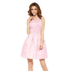 Světle růžové šaty L257