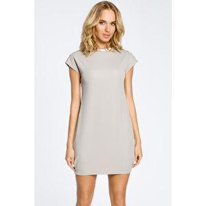 Šedé šaty MOE 028