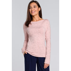 Růžový pulovr S148