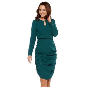 Tmavě zelené šaty L285