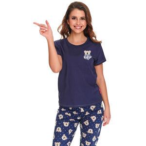Tmavě modré vzorované pyžamo PM9910