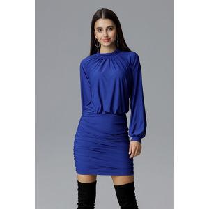 Modré šaty M635