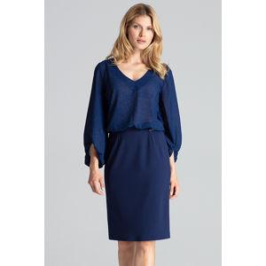 Modrá sukně M688
