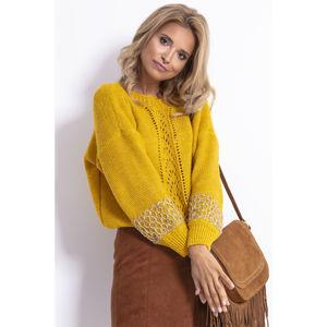 Žlutý pulovr F783