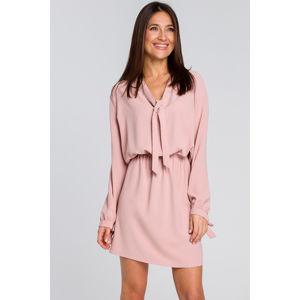 Růžové šaty S147