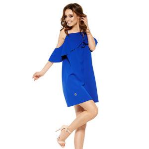 Modré šaty L256