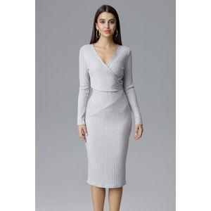Světle šedé šaty M637