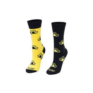 Žluto-černé ponožky Včelky