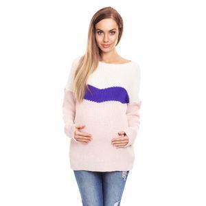 Růžovo-fialový těhotenský pulovr 40023