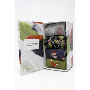 Vícebarevné ponožky v dárkové krabičce Sybil Sock Box - čtyř balení