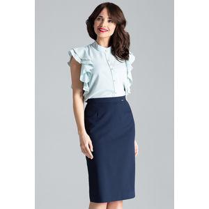 Tmavě modrá sukně L029