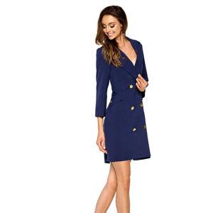 Tmavě modré šaty L278