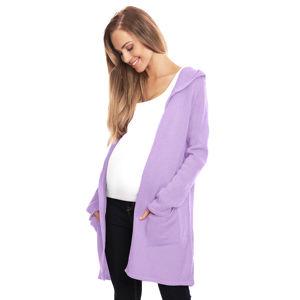 Fialový těhotenský kardigan 30063