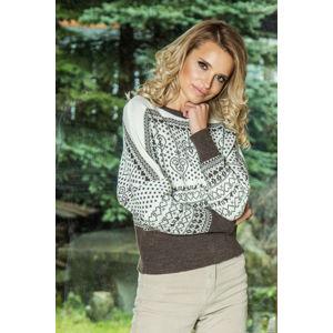 Smetanovo-hnědý pulovr F606