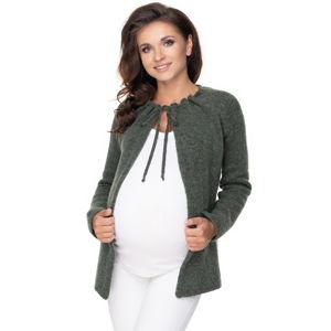 Zelený těhotenský kardigan 30074