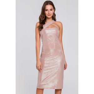 Světle růžové šaty K016