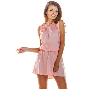 Růžové šaty A284
