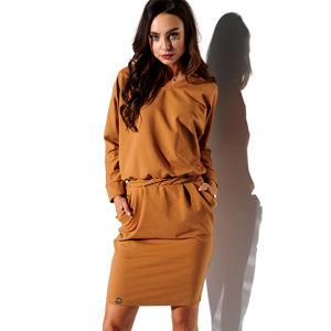 Skořicové šaty L322