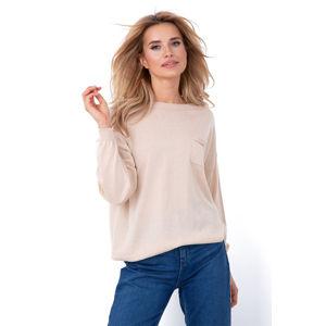 Béžový pulovr F637