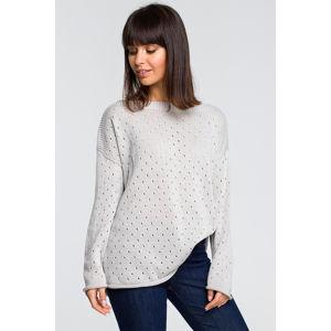 Šedý pulovr BK019