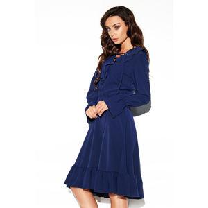 Tmavě modré šaty L313