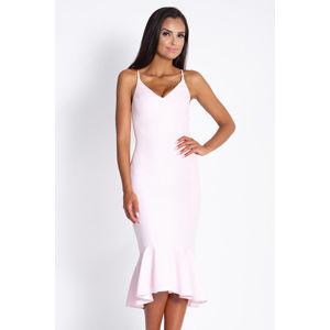 Světle růžové šaty N166