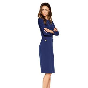 Modré šaty L274