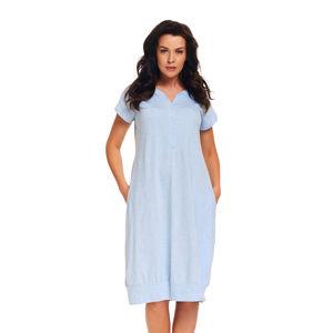 Šedo-modrá těhotenská noční košile TM9300
