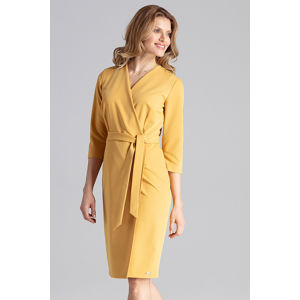 Žluté šaty M654