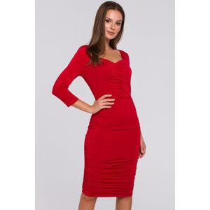 Červené šaty K006
